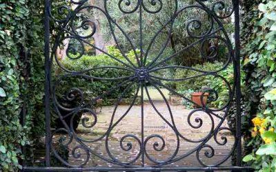 Cancelli in ferro battuto da giardino