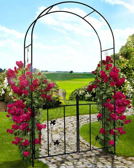 Cancelli in ferro da giardino