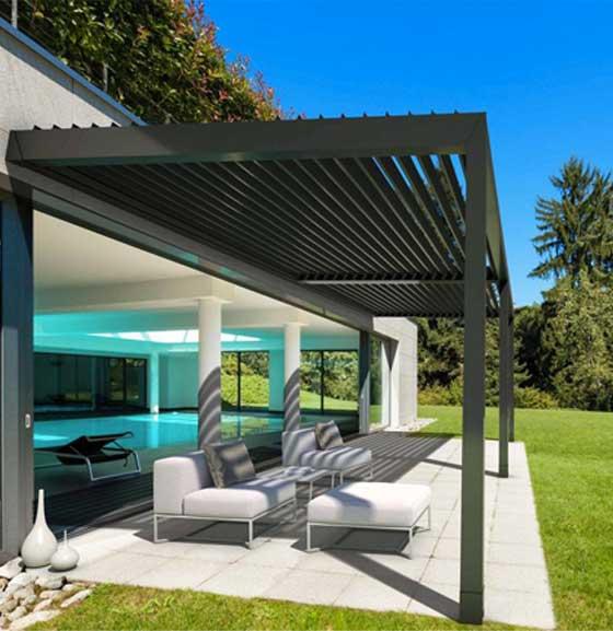 Pergole in alluminio per giardino e terrazzo